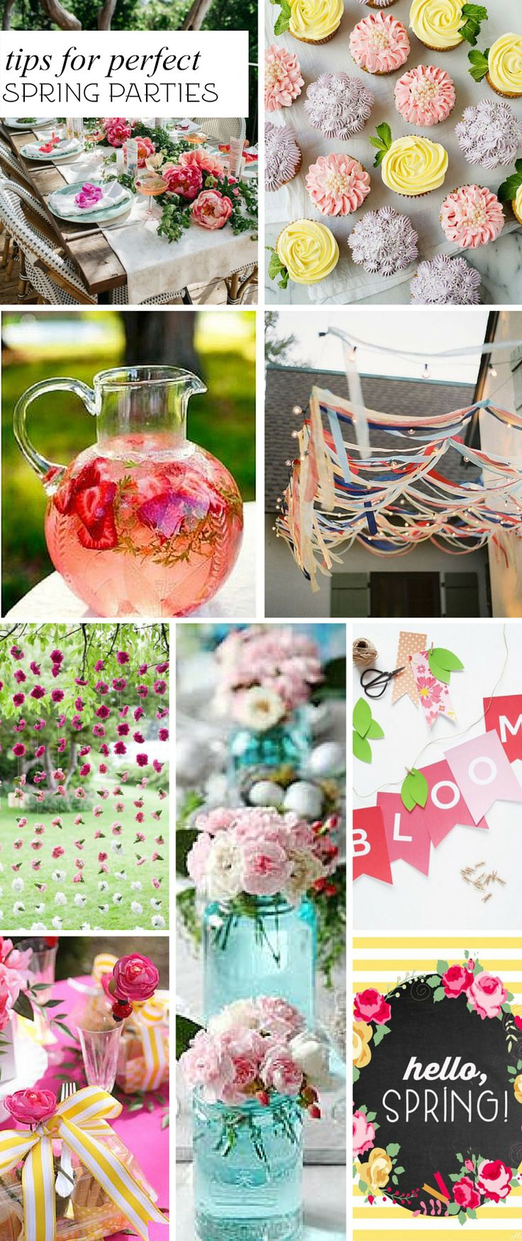 Tips for hosting fabulous spring parties from delicious recipes to free printables too!