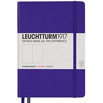 LEUCHTTURM1917 346687 Notebook Medium (A5), 249 numbered pages, dotted, purple