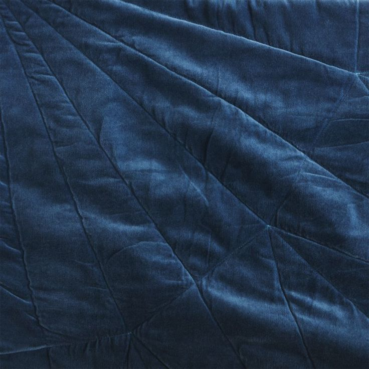 set of 2 vail navy velvet standard shams
