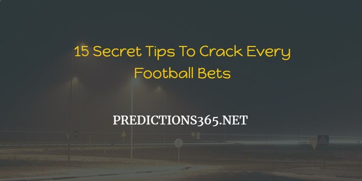 How to win football bets every time :-If you want to rich via gambling than you must know how to win football bets every time .In this guide we are going to share secret little known 11 secret football betting tricks . At the end you will know that how to win football bets every [ ] The post How to Win Football Bets Every Time with These 11 Secret Tricks in 2017 appeared first on Today Soccer Predictions Free.