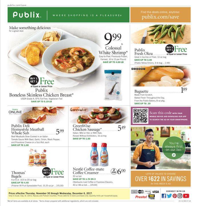 Publix Weekly Ad Nov 30 - Dec 06, 2017