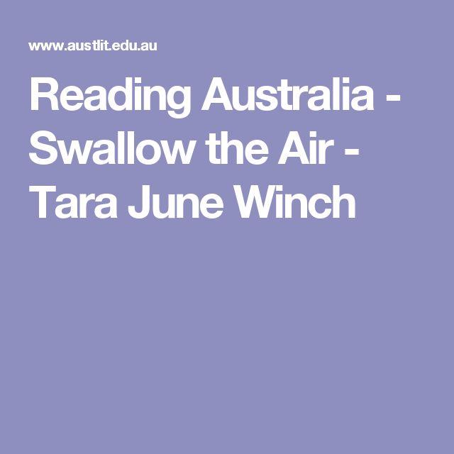 Reading Australia - Swallow the Air - Tara June Winch