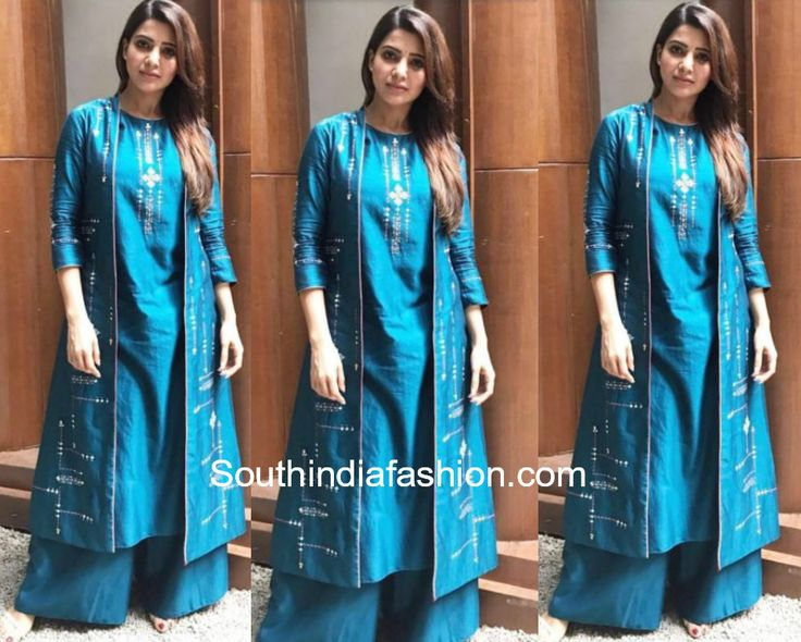 samantha akkineni blue palazzo suit raju gari gadhi2 promotions photo
