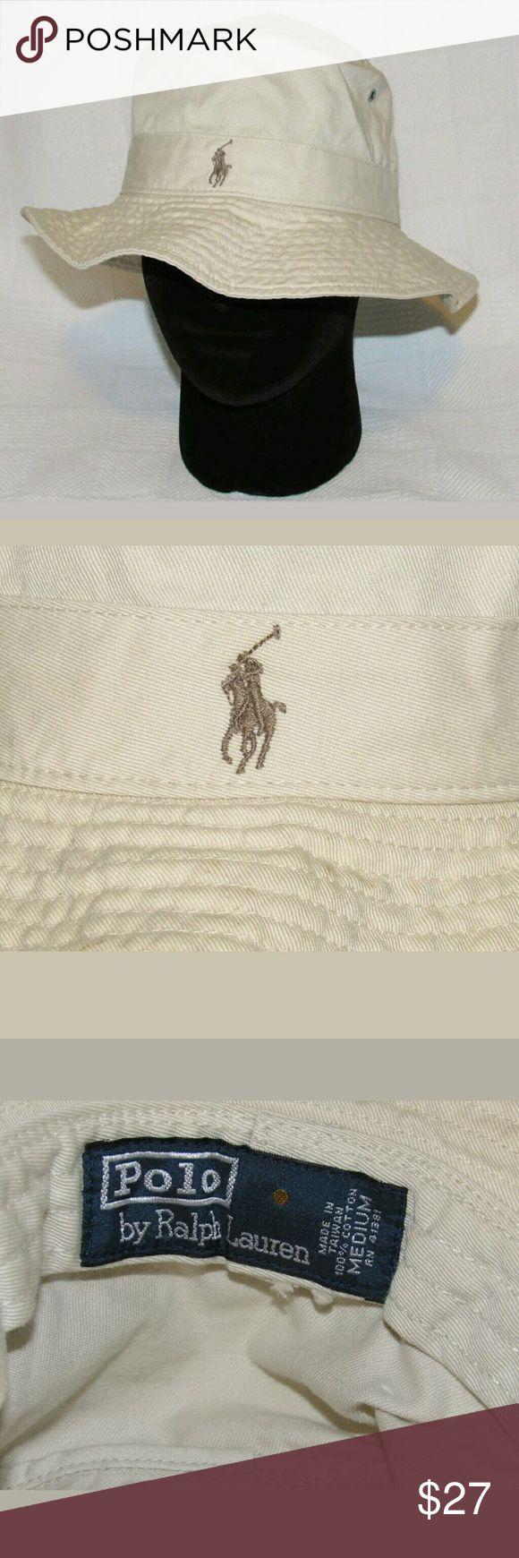 Men Ralph Lauren Bucket Hat Khaki Bucket Hat, Brown Pony on the front, *bundle friendly* Ralph Lauren Accessories Hats