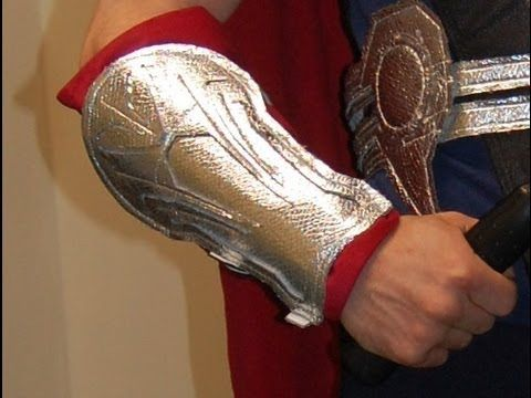Tutorial and FREE pattern for making Thor costume arm bracers