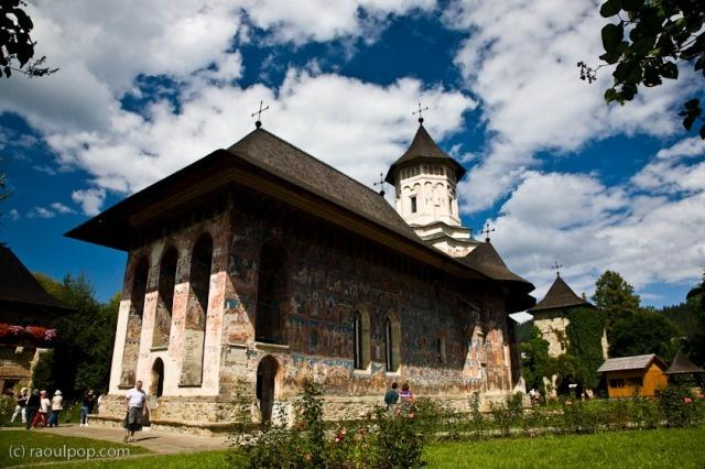 The painted monasteries of Bucovina, Romania.