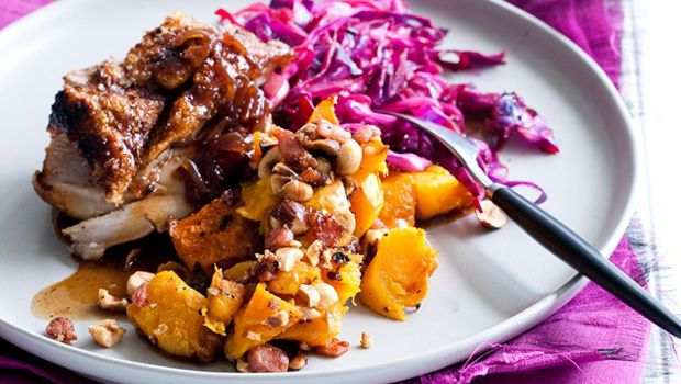 Nadia Lim's Roast Pork With Cider Gravy and Candied Butternut Recipe - Life | Recipes - Coast FM - Timeless Music by Timeless Artists