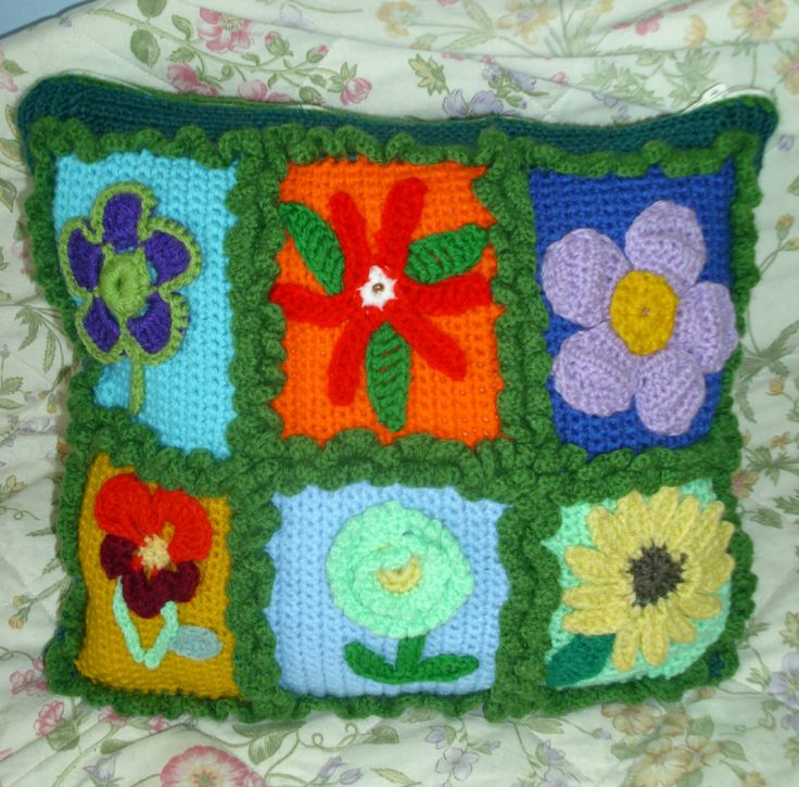 Minion Pillow, Crochet Pillow, Funny Pillow, Decorative Pillow, Crochet Flowers Pillow by RomanticHandmade on Etsy