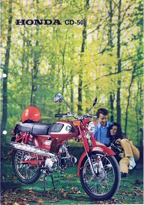 Honda cd50 brommer bromfiets buikschuiver