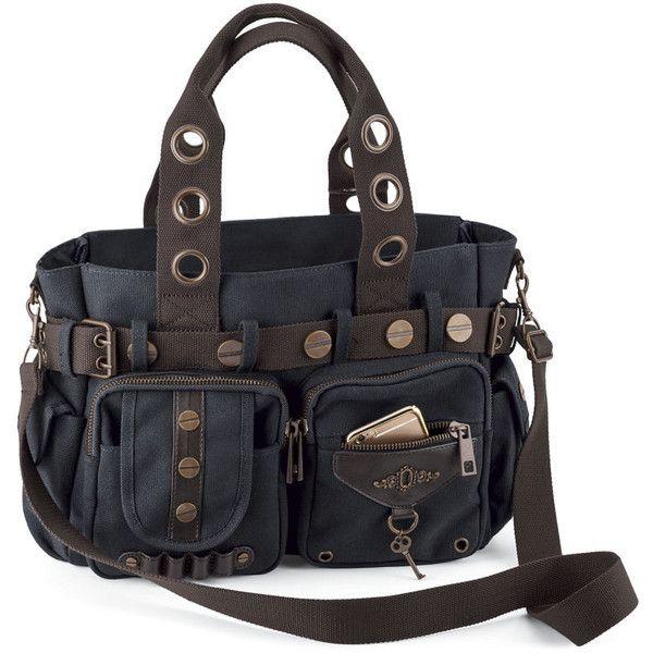 Steampunk Key Canvas Handbag (675 NOK) ❤ liked on Polyvore featuring bags, handbags, gothic purse, boho bags, hand bags, bohemian style handbags and boho handbags