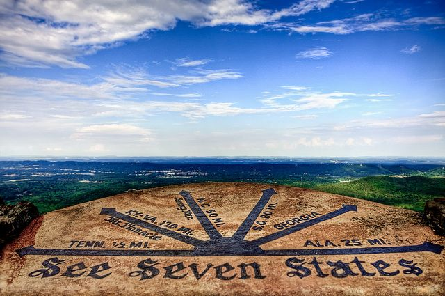 "Seven States / ""Rock City"" in Chattanooga, Tennessee. From this location you can overlook 7 States."