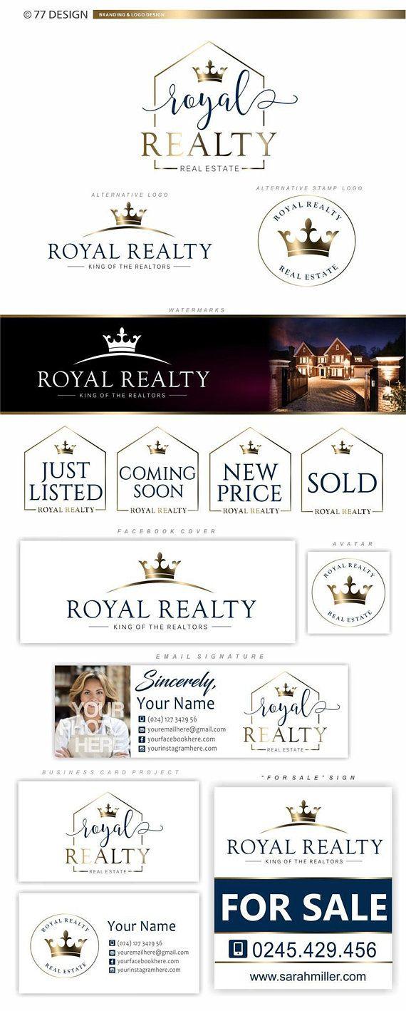 Real estate logo, Realtor Crown logo Watermark, Branding