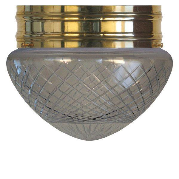 Plafond - Taklampa Heidenstamplafond 200 mönstrat klarglas - Sekelskifte