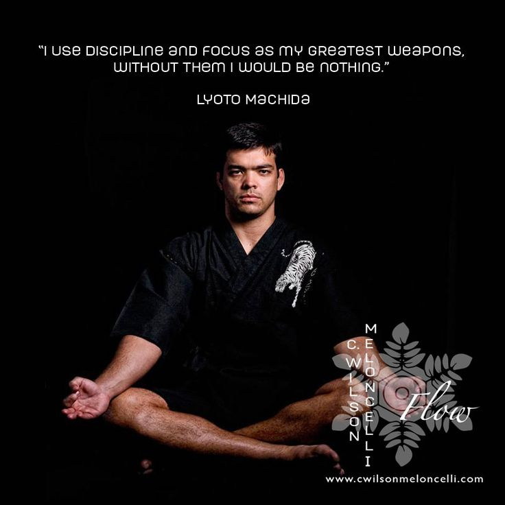 a quote from lyotomachida i use discipline and focus as my greatest