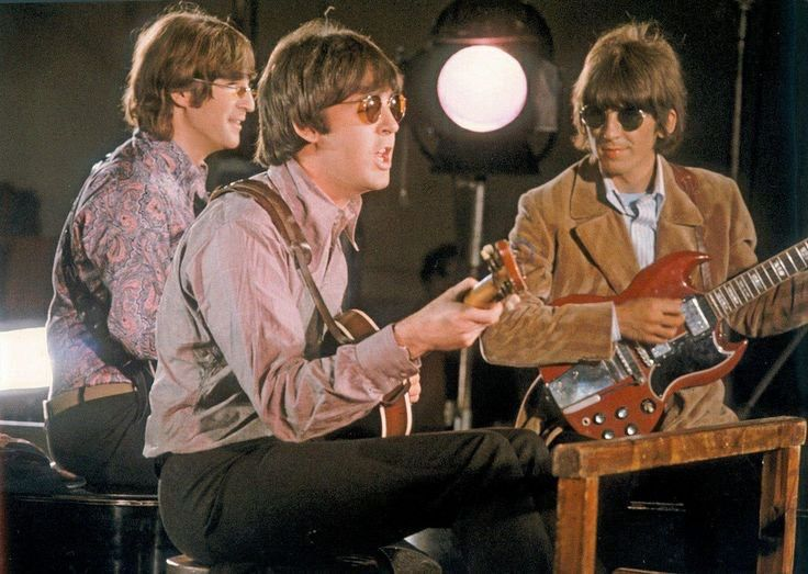 """John, Paul and George filming the promotional video of """"Paperback Writer"""", May 1966 TheBeatles"""