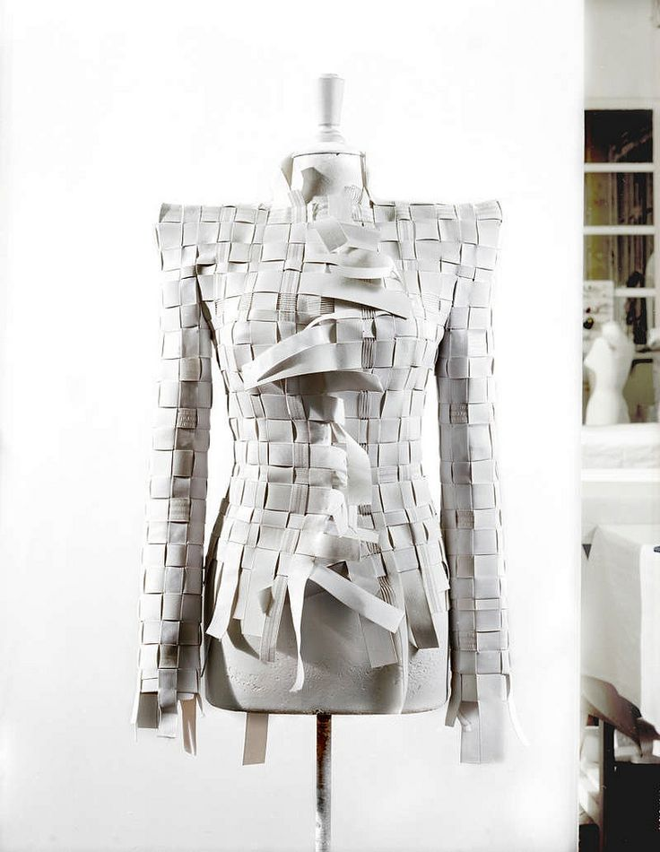 From Maison Martin Margiela's stunning Artisanal Collection, made entirely out of elastic banding.