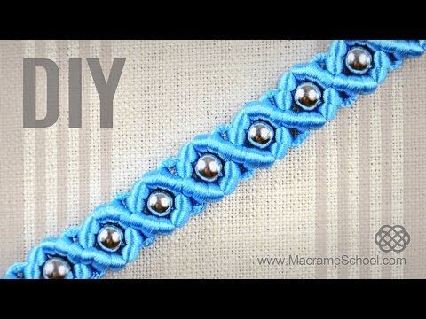 DIY Easy Macramé Eternal Wave Bracelet with Beads | Tutorial - YouTube