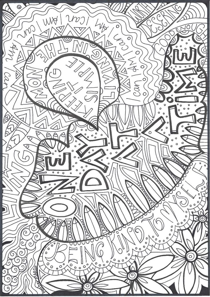 One Day At A Time Coloring page download, Adult coloring ...