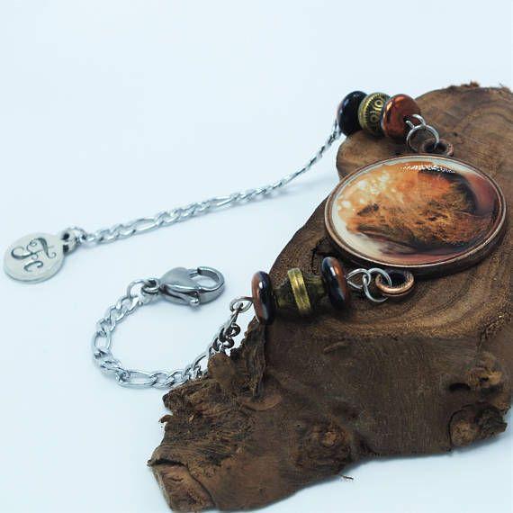 Bracelet peint à la main  Handpainted bracelet  https://www.etsy.com/ca-fr/listing/564166856/braceletpeint-a-la-mainbijou