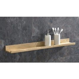 Solid Oak Bathroom Shelf 60cm