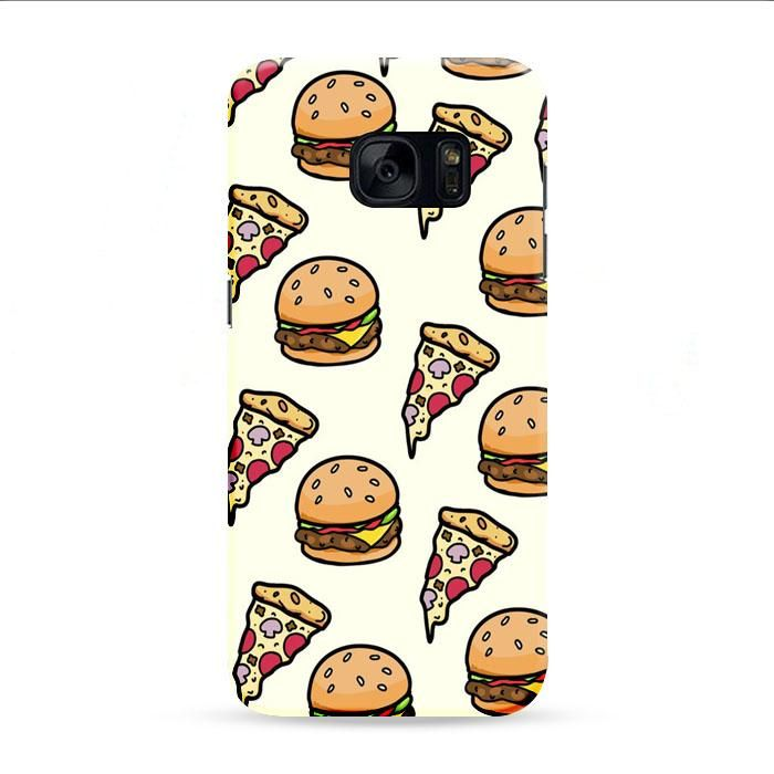 Pizza Food And Wallpaper Samsung Galaxy S7 Edge 3D Case