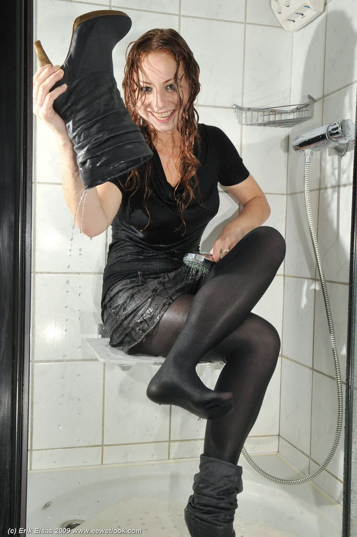 wet pantyhose