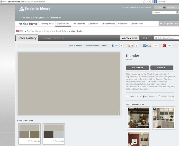 Kitchen Wall Color- Benjamin Moore Thunder AF-685, Affinity collection.