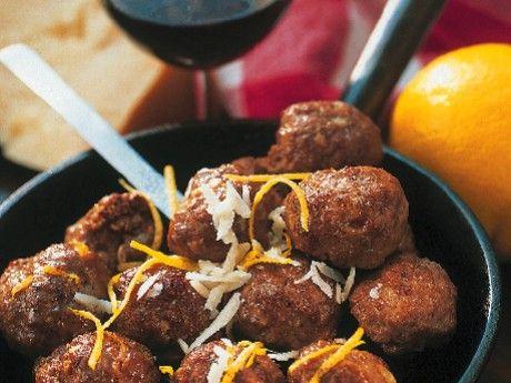 Polpette är italienska köttbullar kryddade med parmesanost och citron.