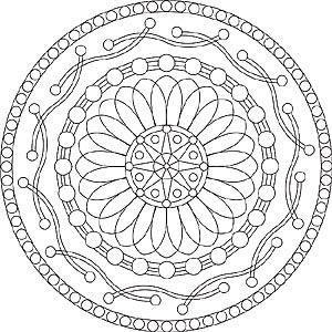 Flor plantilla Mandala para adultos