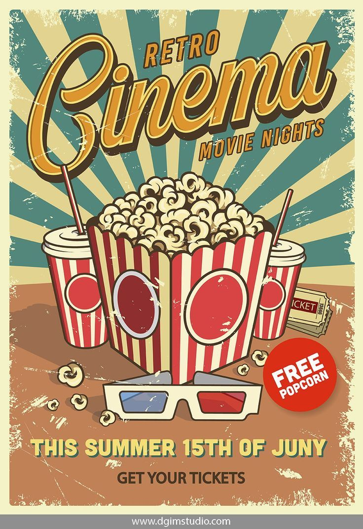 12 Cinema Posters Poster Vintage Retro Retro Poster Vintage Poster Design