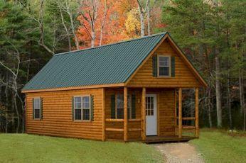 70 Fantastic Small Log Cabin Homes Design Ideas (19