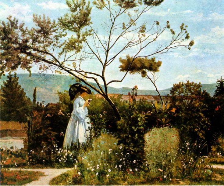 'Tra i fiori del giardino' Silvestro Lega