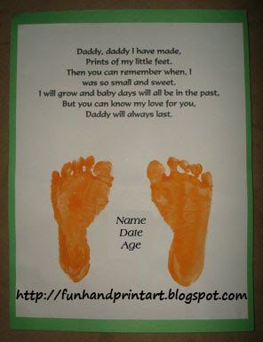 father's day gift idea - footprints poem