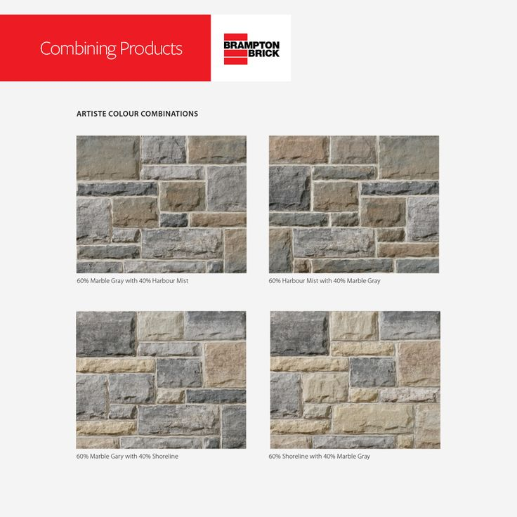 ARTISTE COLOUR COMBINATIONS   Download Brampton Brick's 2017 Residential Masonry Products for tips and design ideas.