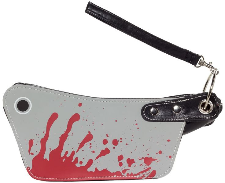 KREEPSVILLE 666 MINI CLEAVER MAKE UP BAG - Would you kill for a new bag to hold your blood red lipstick? Now you don't have to thanks to the loveable ghouls at Kreepsville 666. Add a touch of bloody horror to your day with a mini cleaver make up bag. It's also the perfect size to double as a mini clutch when you don't want to lug around that purse full of severed heads.