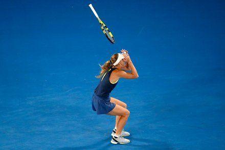 Caroline Wozniacki Defeats Simona Halep to Win Australian Open