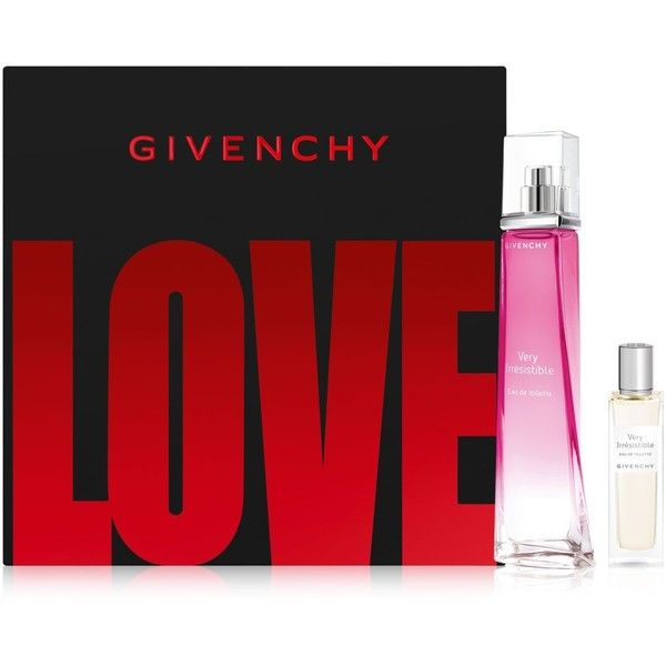 Givenchy 2-Pc. Very Irresistible Eau de Toilette Gift Set ($93) ❤ liked on Polyvore featuring beauty products, fragrance, no color, givenchy fragrance, eau de toilette fragrance, givenchy, eau de toilette perfume and givenchy perfume