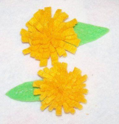 dandelion barrettes