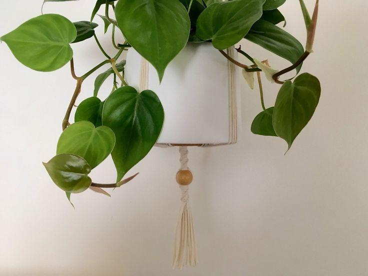 Suspension en macramé bymadjo.com Modèle bès Suspension macramé suspension plante suspension pour plantes