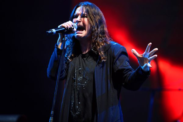 Ozzy Osbourne of Black Sabbath performs in Chicago, Illinois.