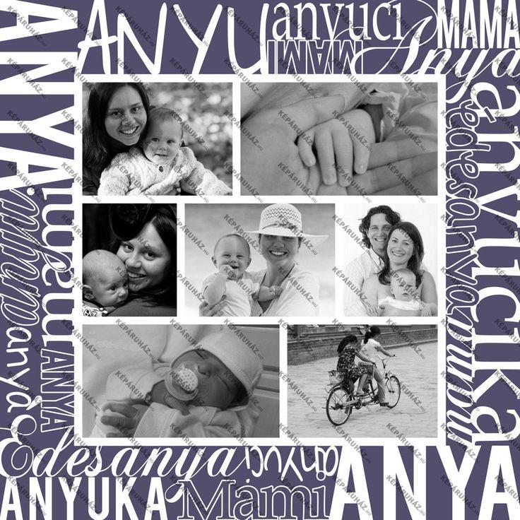 Anyák napi egyedi ajándék vászonkép betűkép