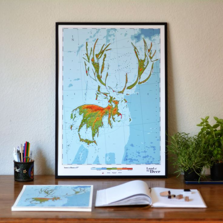 Cervidae - Land of the Deer by DauDaw on Etsy