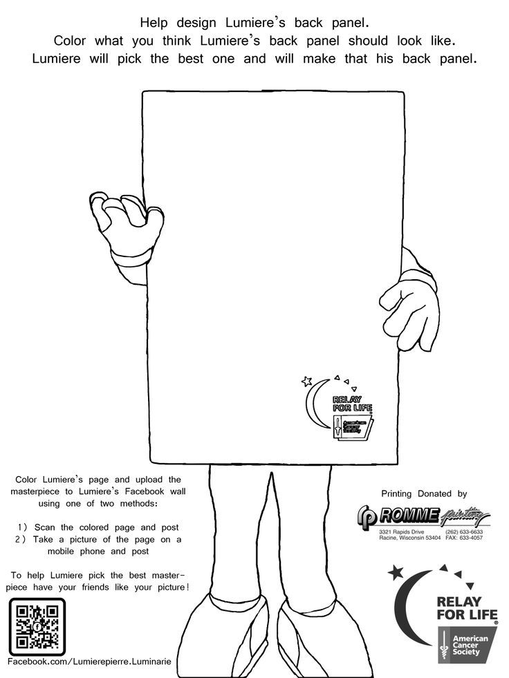 Relay For Life Ribbon Coloring Page
