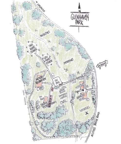 Camp Site Plan Map