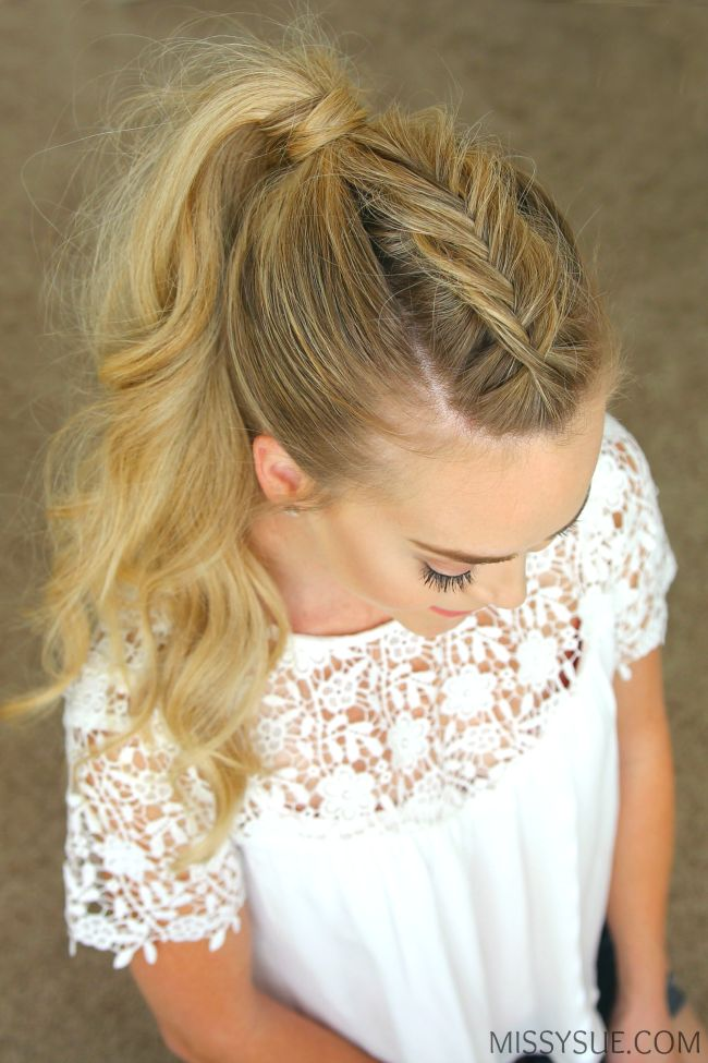 Take your favorite style up a notch with a Dutch fishtail mohawk braid. Whether you love the half up bun or a more simple ponytail, adding an accent braid can take your hairstyle to that next level…