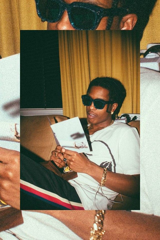 ASAP Rocky wearing Gucci Washed t-shirt with Peanuts print