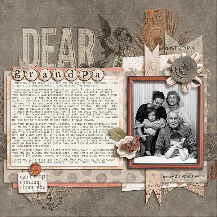 Dear Grandpa - Scrapbook.com