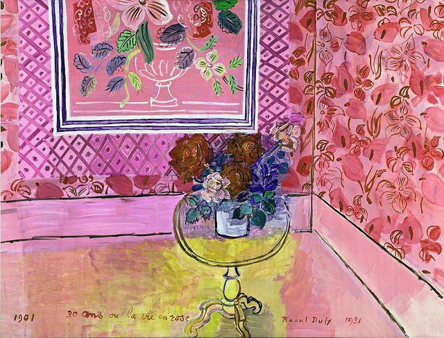 Raoul Dufy (French, 1877-1953), Trente ans ou la vie en rose, 1931. Oil on canvas. Musée National d'Art Moderne de la Ville de Paris.
