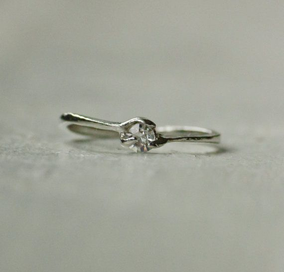 Promise Ring  Antique Silver gemstone ring by ElementsUnlimited, $13.00 size 7