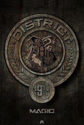 Lol haha funny / Hunger Games Humor / Harry Potter Humor / FANDOMS UNITE!! District 9 3/4 magic